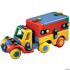 Delivery Truck Multicolor Construction Kit