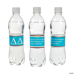 Delta Delta Delta Personalized Water Bottle Labels