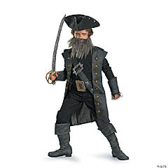 Deluxe Boy's Pirates of the Caribbean Blackbeard Costume