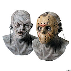 Deluxe Jason Voorhees Mask with Detachable Hockey Mask
