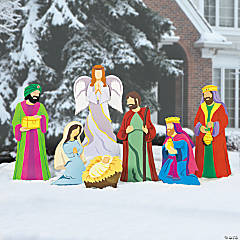 Deluxe Nativity Scene Yard Stakes