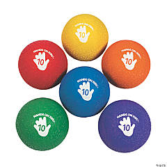 Deluxe 2-Ply Rubber Rainbow Playground Balls - 10