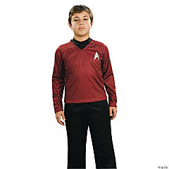 Deluxe Red Uniform Star Trek Costume for Boys