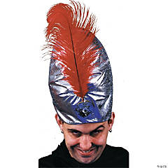 Deluxe Silver Turban With Plume