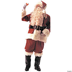 Deluxe Velvet Santa Suit Plus Size Adult Men's Costume