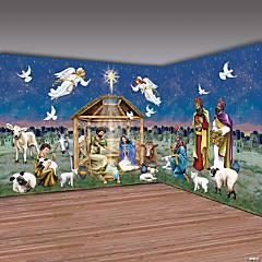 Design-A-Room Christmas Nativity Scene Backdrop Set