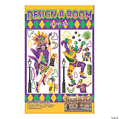 Design-A-Room Mardi Gras Jester Backdrop Set