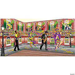 Design-A-Room Mardi Gras Street Backdrop