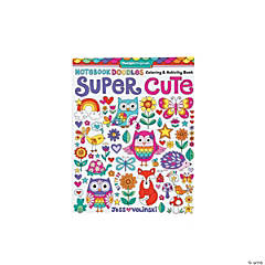 Design Originals Notebook Doodles Super Cute Coloring & Activity Book