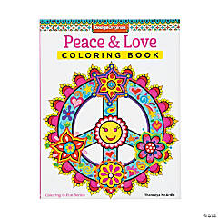 Design Originals Peace & Love Adult Coloring Book