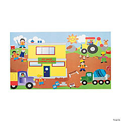 12 Design Your Own! Giant Construction Site Sticker Scenes