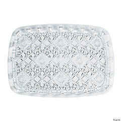 Diamond Cut Rectangular Serving Tray - 15
