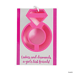 Diamond Ring Cookie Cutter Favors on Cards