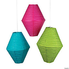 Diamond-Shaped Hanging Paper Lanterns