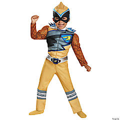 Dino Charge Gold Ranger Muscle Costume for Boys