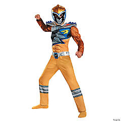 Dino Classic Gold Ranger Costume for Boys
