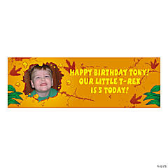 Dino-Mite Small Custom Photo Banner