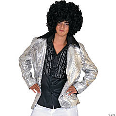 Disco Jacket Silver Medium Adult Men's Costume