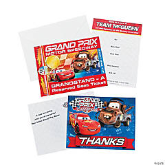 Disney Cars Dream Invitation and Thank You Set