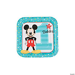 Disney® Mickey's Fun To Be One Square Paper Dessert Plates