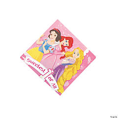 Disney Princess 1st Birthday Beverage Napkins