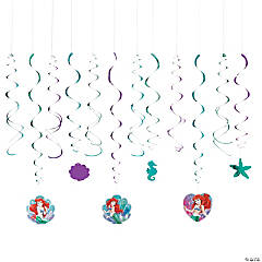 Disney's The Little Mermaid Ariel Swirl Decorations