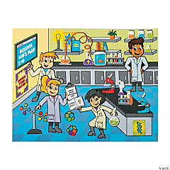 Divine Discoveries Science Lab Sticker Scenes