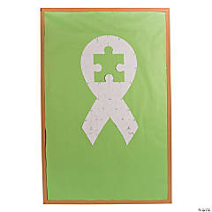 DIY Autism Awareness Bulletin Board Puzzle Pieces