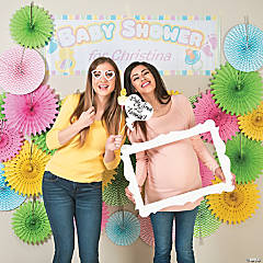 DIY Baby Shower Photo Booth Idea