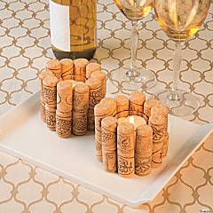 DIY Bottle Cork Candle Holder Idea