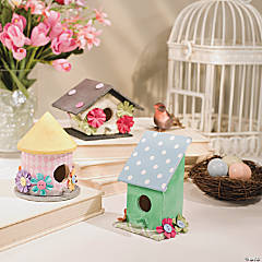 DIY Bright Bird House Idea