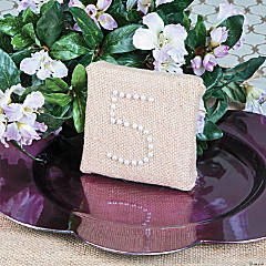 DIY Burlap Table Numbers Idea