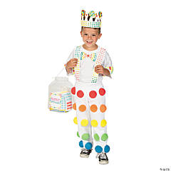 DIY Candy Button Costume Idea