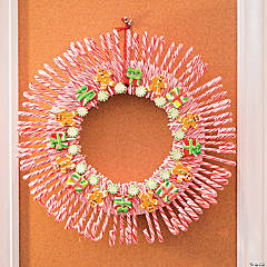 DIY Candy Cane Wreath Idea