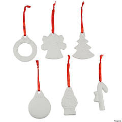 DIY Ceramic Patterned Christmas Ornaments
