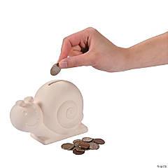DIY Ceramic Snail Banks
