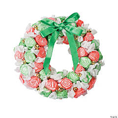 DIY Christmas Taffy Wreath Idea
