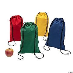 DIY Colorful Canvas Drawstring Backpacks