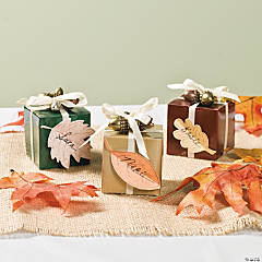 DIY Fall Leaves Placecard Favor Idea