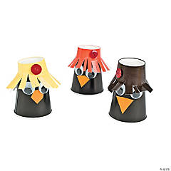 DIY Fall Paper Cup Scarecrows Idea