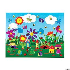 DIY Flower Garden Sticker Scenes