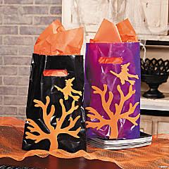 DIY Halloween Silhouette Bags Idea
