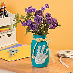 DIY Handprint Mason Jar Idea