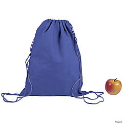 DIY Large Purple Canvas Drawstring Backpacks