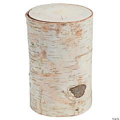 DIY Large Round Birch Pillar with Bark