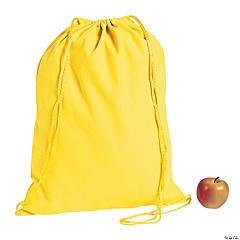 DIY Large Yellow Canvas Drawstring Backpacks