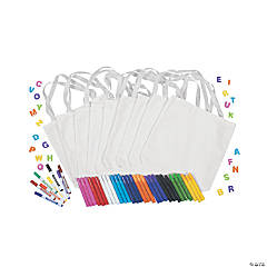 DIY Mini White Canvas Tote Bag Kit