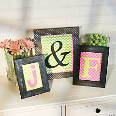 DIY Monogram Frames Idea