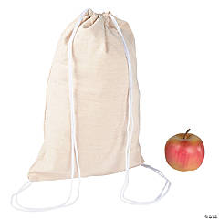 DIY Natural Canvas Drawstring Bags - 48 pcs.