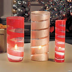 DIY Painted Candle Vases Idea